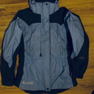 Periwinkle & Charcoal Columbia Titanium Jacket